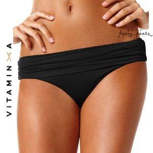 Vitamin A Bikini Bottom Black Convertible Waist XS